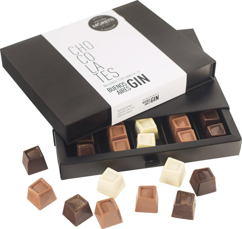 Chocolates rellenos de buenos aires gin